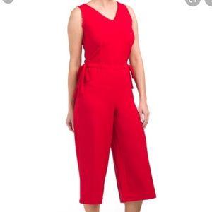 Carolina Belle Red Jumpsuit with tie details